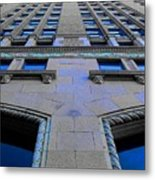 Telephone Building With Indigo Reflections Metal Print