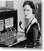 Telephone Operator Metal Print by General Photographic Agency