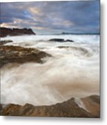 Tempestuous Sea Metal Print