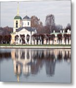 Temple And Bell Tower Metal Print
