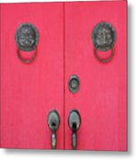 Temple Doors Metal Print