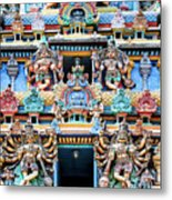 Temple Facade Chennai India Metal Print