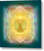 Temple Fire Chalice Metal Print