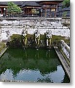 Temple Fountain Metal Print