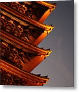Temple Lights Metal Print