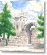 Temple Of Apollo - Corinth Metal Print