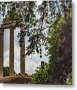 Temple Of Castor And Pollux Metal Print