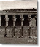 Temple Of Hathor, Early 20th Century Metal Print
