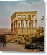 Temple Of Isis On The Nile River Metal Print