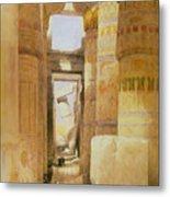 Temple Of Karnak  2 Metal Print