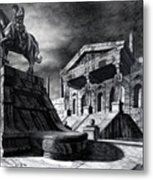 Temple Of Perseus Metal Print