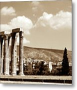 Temple Of Zeus Metal Print by John Rizzuto