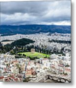 Temple Of Zeus - View From The Acropolis Metal Print