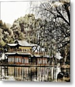 Temple On The Lake Metal Print