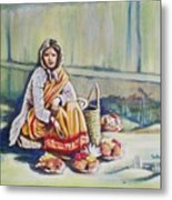 Temple-side Vendor Metal Print