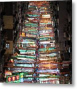 Temple Street Market In Hong Kong Metal Print