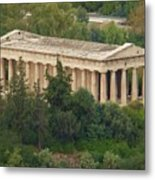 Temple To Zeus Metal Print