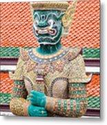 Temple Warrior Metal Print