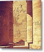 Temples Of Karnak  Metal Print