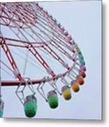 Tempozan Ferris Wheel Metal Print