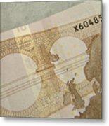 Ten Euro Note Metal Print