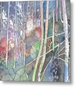 Ten Faces In The Mystical Forest Metal Print