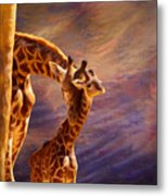 Tenderness Painted Metal Print