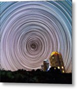Tenerife Star Trails Metal Print