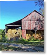 Tennessee Hay Barn Metal Print