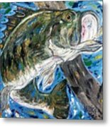 Tennessee River Largemouth Bass Metal Print