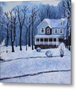 Tennessee Winter In The Smokies Metal Print