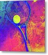Tennis Art Version 1 Metal Print