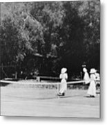 Tennis Champions Sutton And Hotchkiss Metal Print
