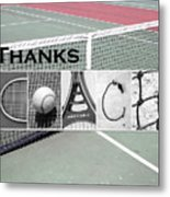 Tennis Coach Alphabet Art Metal Print