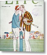 Tennis Court Romance, 1925 Metal Print