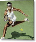 Tennis In The Sun Metal Print by Paul Mitchell