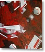 tennis on Mars Metal Print