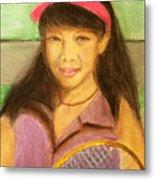 Tennis Player, 8x10, Pastel, '07 Metal Print