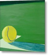 Tennis Reflections Metal Print