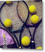 Tennis Still Life 2 Metal Print