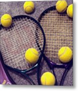Tennis Still Life 3 Metal Print