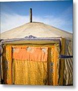 Tent In The Desert Ulaanbaatar, Mongolia Metal Print