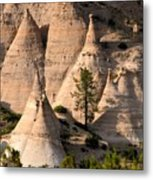 Tent Rocks Wilderness Metal Print
