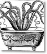 Tentacles In The Tub Metal Print