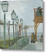 Terrace And Observation Deck At The Moulin De Blute Fin Metal Print