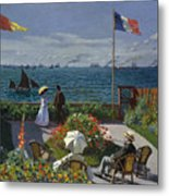 Terrace At Sainte-adresse Metal Print