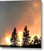 Terrace Mountain Fire 2  Metal Print