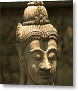 Terracota Statue Head Metal Print