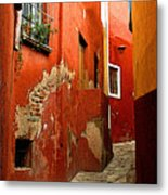 Terracotta Alley Metal Print