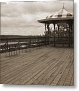 Terrasse Dufferin And St Lawrence River In Quebec Canada Metal Print